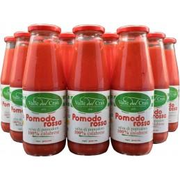 Salsa Di Pomodoro Calabrese  Senza Glutine Sugo Pronto in 5 Minuti (24 Bottiglie da 720 ml)